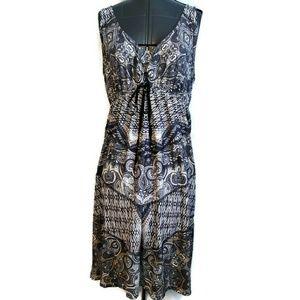One World Sun Dress Size XL Tank Knee Slinky Boho